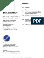 Fascicolo 3/2010 Personalità Dipendenze - Sommario, editoriale