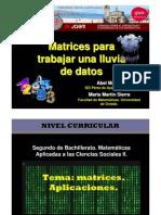 Matrices para trabajar una lluvia de datos.
