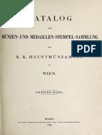 Katalog der Münzen- und Medaillen-Stempel-Sammlung des K. K. Hauptmünzamtes in Wien. Bd. II