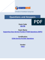 Cisco 640-760 Exam Supporting Cisco Service Provider IP NGN Operations (SSPO)