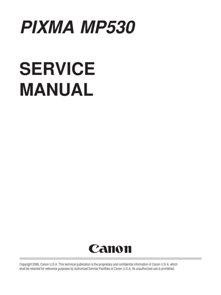 pixma mp530 service manual canon printer computing fax rh scribd com