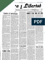 Periodico Libertario Tierra y Libertad n 10 de 1925
