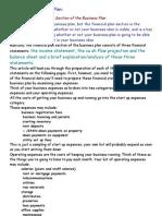 Business Plan & Breakeven Analysis