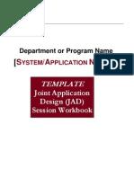JAD Workbook Template