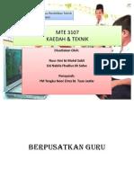 Kaedah Dan Teknik MTE 3107