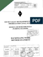 Back Filling Work Method Statment