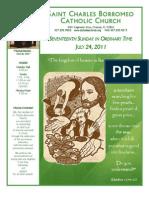 July 24, 2011 Bulletin