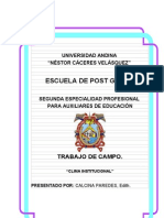 Proyecto Uancv - Postgrado - Edith Calcina