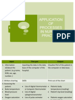 Application of Processes in Nursing Practice
