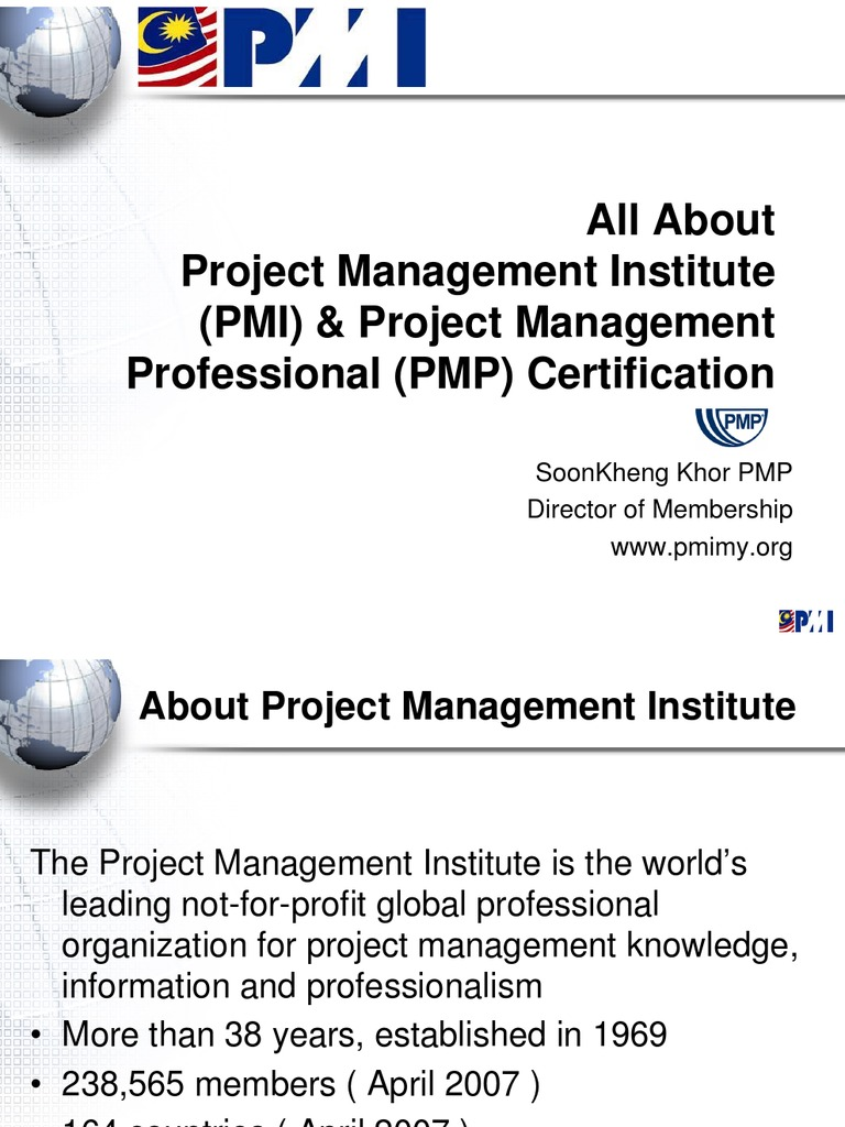All About Pmi Pmp Certification Professional Certification