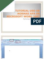 Tutorial Aplicacion normas APA en word Office 2007- Julio 2011