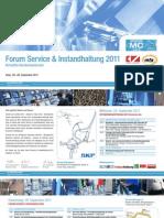 Einladung Forum Service & Instandhaltung 2011