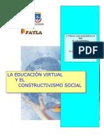Educación  virtual y Constructivismo social