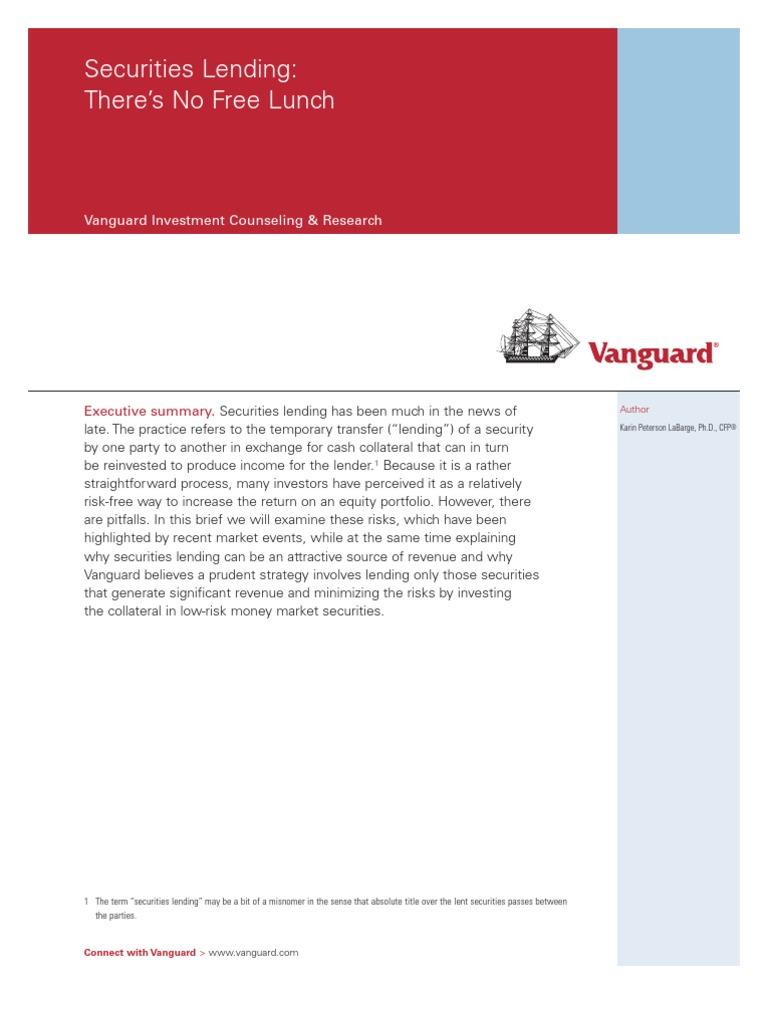 Securities Lending Vanguard | Securities Lending | Securities (Finance)