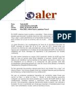 Carta Junta Directiva ALER, 2020