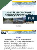 Rodovias e Ferrovias Federais e a Responsabilidade Do DNIT