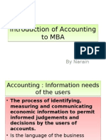 Accounting to MBA