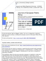 The Role of Independent Regulatory Agencies in Making- A Comparative Analysis -Maggetti