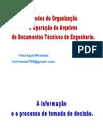 CURSO DE ADMINISTRAÇÃO DE ARQUIVOS DE ENGENHARIA - INTRODUÇÃO