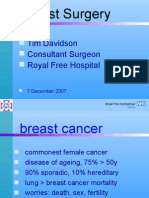 Breast Surgery - Benign and Malignant