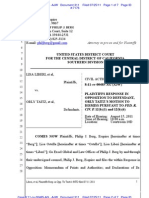 LIBERI v TAITZ (C.D. CA) - 311.0 - OPPOSITION to MOTION to Dismiss Case Pursuant to FRCP 12(b)(6) - gov.uscourts.cacd.497989.311.0