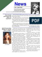 April 2007 Spot News
