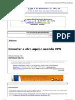 Conectar a Otro Equipo Usando VPN