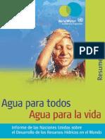 Agua Para Todos Naciones Unidas
