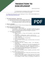 Introduction to Discipleship - Notes - Warren David Horak