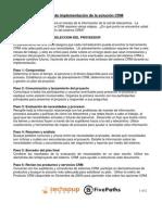 The CRM Proceso de Implementacion de La Solucion0110