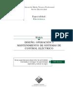 DISEÑO OPERACION Y MANTENIMINETO DE SISTEMA DE CONTROL ELECTRICO