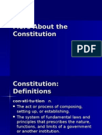 More About the Constitution