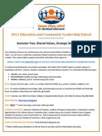 KCMSD Community Leadership School Flier - Semester Two