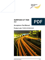 SURPASS HiT7035 R4.2 Acceptance Test Manual