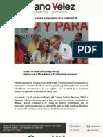 25-07-11 Cano Vélez reitera la importancia de la unidad del PRI