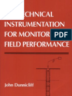 Geotechnical Instrumentation for Monitoring Field Performance