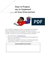 Easy to Prepare, Easy to Implement Content Area Interventions