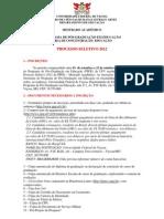 Mestrado Educação UFV - edital2012