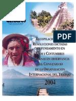 resoluciones indigenas OIT 169