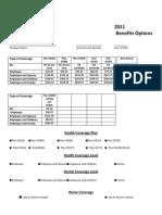 Benefits Options 2011