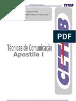 APOSTILA I - TÉCNICAS DE COMUNICAÇÃO