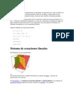 3.1 Ecuación lineal