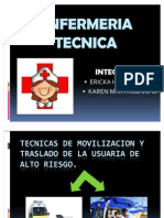 Tecnicas de Movilizacion y Traslado de La Usuaria de Alto Riesgo.