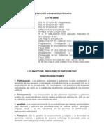 Ley Marco Del Presupuesto Participativo 28056