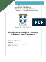 Investigación #1 Principales Aspectos de Diseño de los Sistemas Operativos - 0728