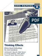 Effects Based Methodology for Joint Operations