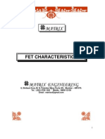 Characteristics of FET