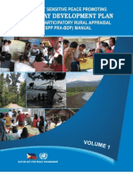 Conflict Sensitive Peace Promoting Participatory Rural Appraisal Barangay Development Plan Manual Volume1