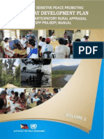 Conflict Sensitive Peace Promoting Participatory Rural Appraisal Barangay Development Plan Manual Volume 2