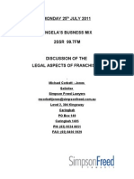 Franchising-the Legal Side-Micheal Corbett-Jones
